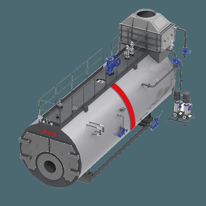 TRYPASS Unical трехходовой паровой котел высокого давления - Фото №18