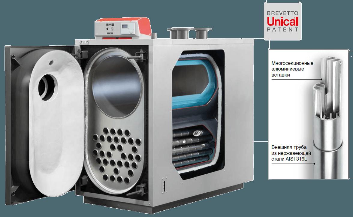 XCK конденсационный жаротрубный котел Unical