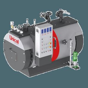 BAHR UNO паровой котел для низкого давления Unical c экономайзером