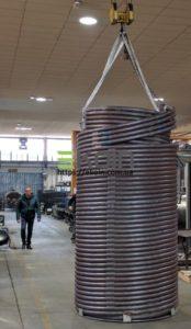 Спиральный теплообменник, диатермическое масло
