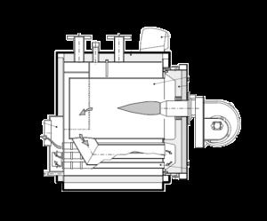 схема работы котла tristar 3g Unical (2300-3000 кВт)