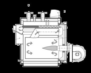 схема работы котла tristar 3g (65-1900 кВт)